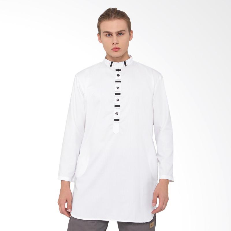 Jual Zayidan Ihsan Baju Muslim Gamis Pria Putih Online