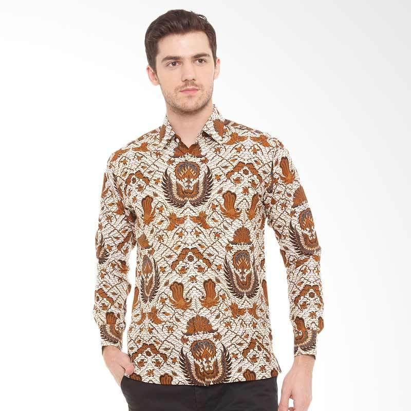 Batik Pekalongan Pria Panjang: Jual Batik Agrapana Print Santosa Lengan Panjang Kemeja