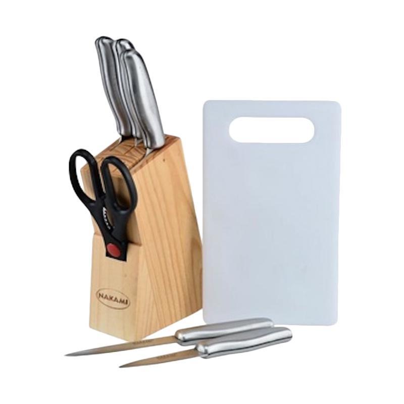 Jual nakami nk ks668 stainless kitchen knife set online for Daftar harga kitchen set stainless steel