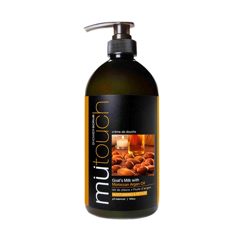 Jual Mu touch Goat's Milk with ARGAN OIL & WALNUT Shower