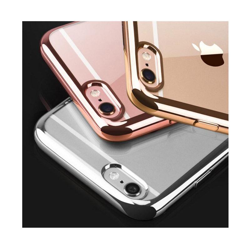 Jual Shining Crome Oppo softcase oppo neo 9 list chrome emas gratis tempered glass