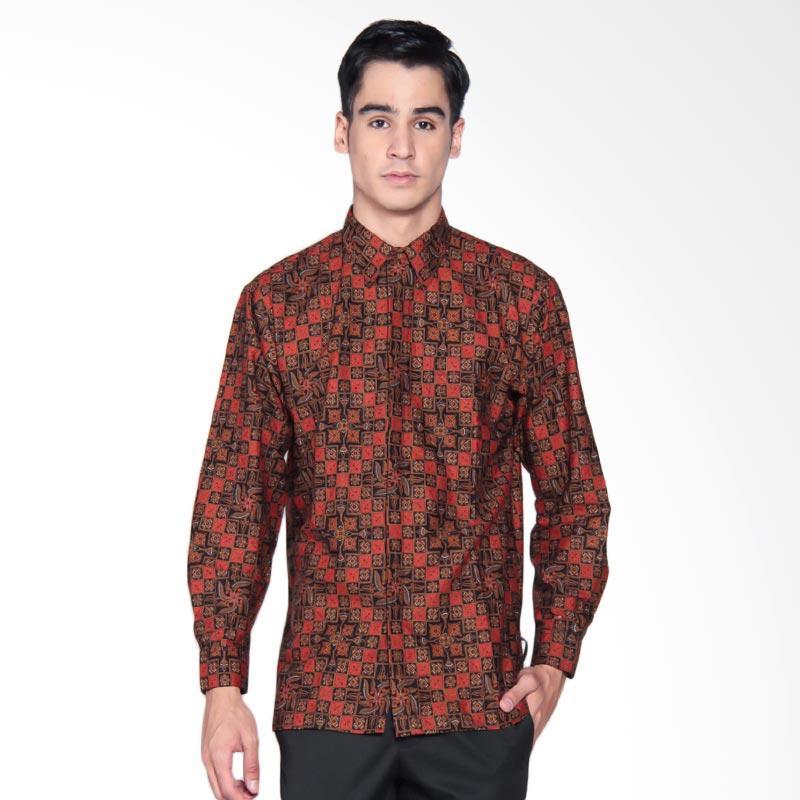 Harga Baju Batik Pria Danar Hadi: Jual Danar Hadi Print Motif Ceplok Kitiran Kemeja Batik