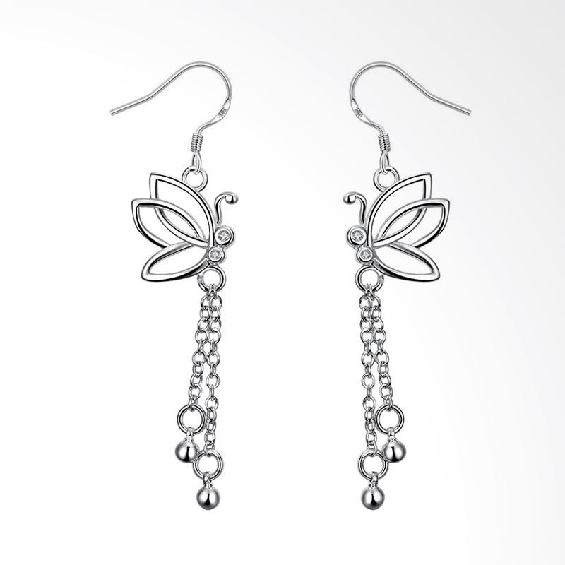 Jual SOXY SPE003 New Fashion Silver Personalized Butterfly