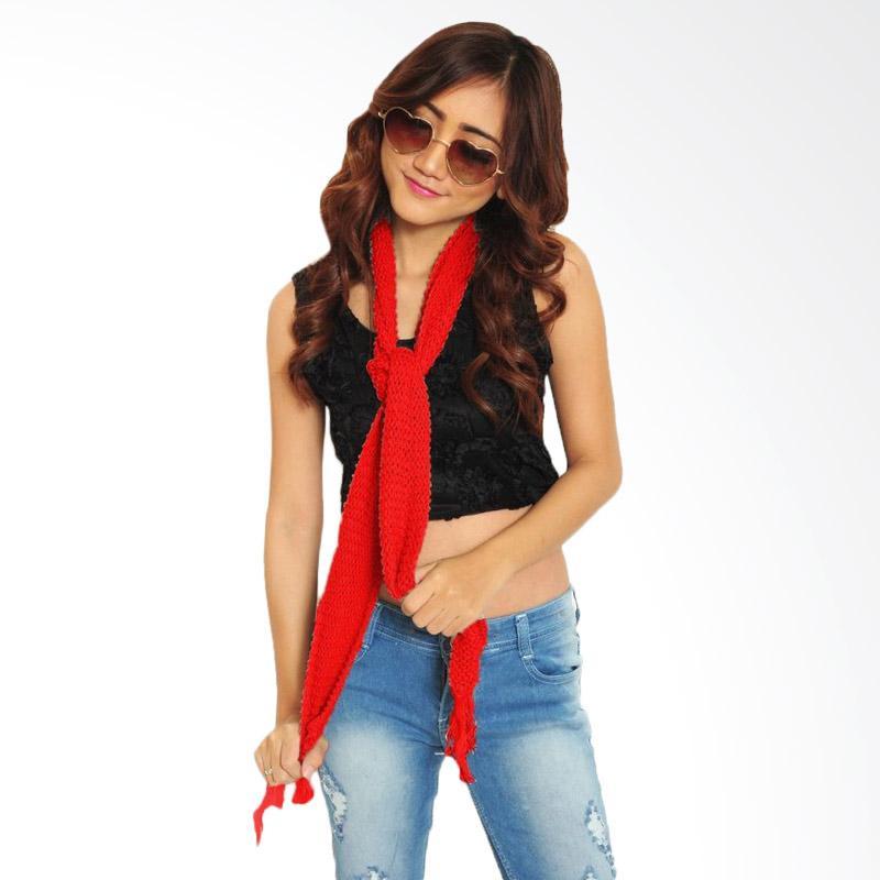 Jual JCFASHION Fashion Syal Rajut Aksesoris Wanita - Red Online - Harga & Kualitas Terjamin