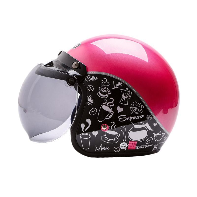 Jual WTO Helmet Retro Bogo Classic Coffee Helm Half Face
