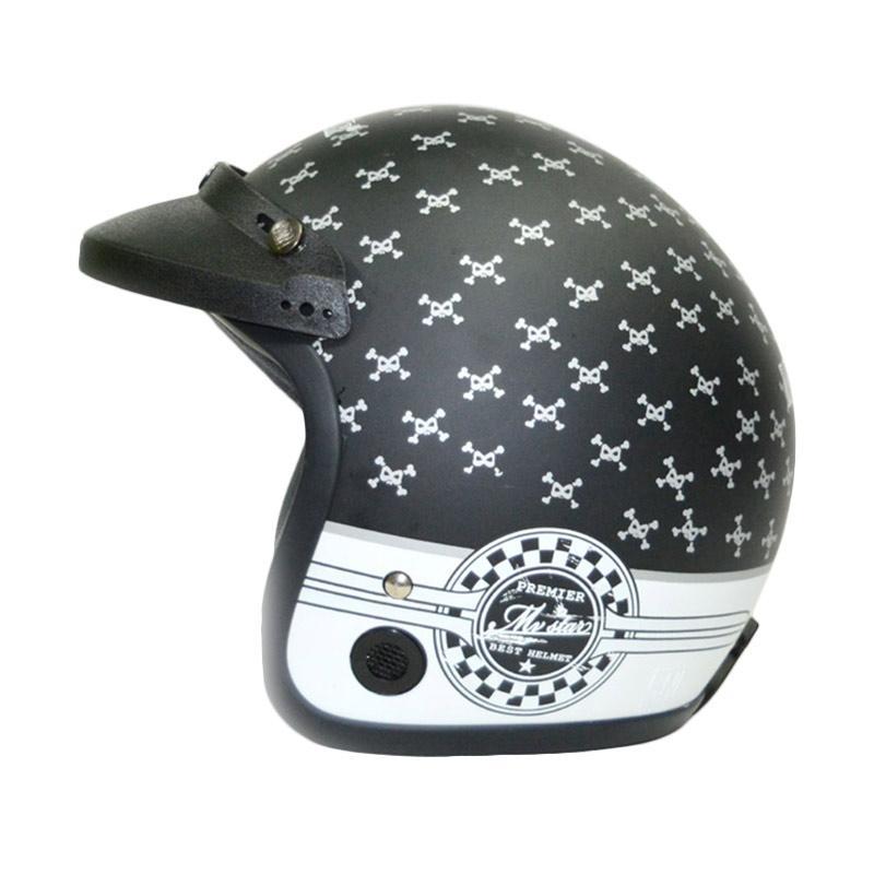 Jual MVSTAR Motif Tengkorak Helm Half Face
