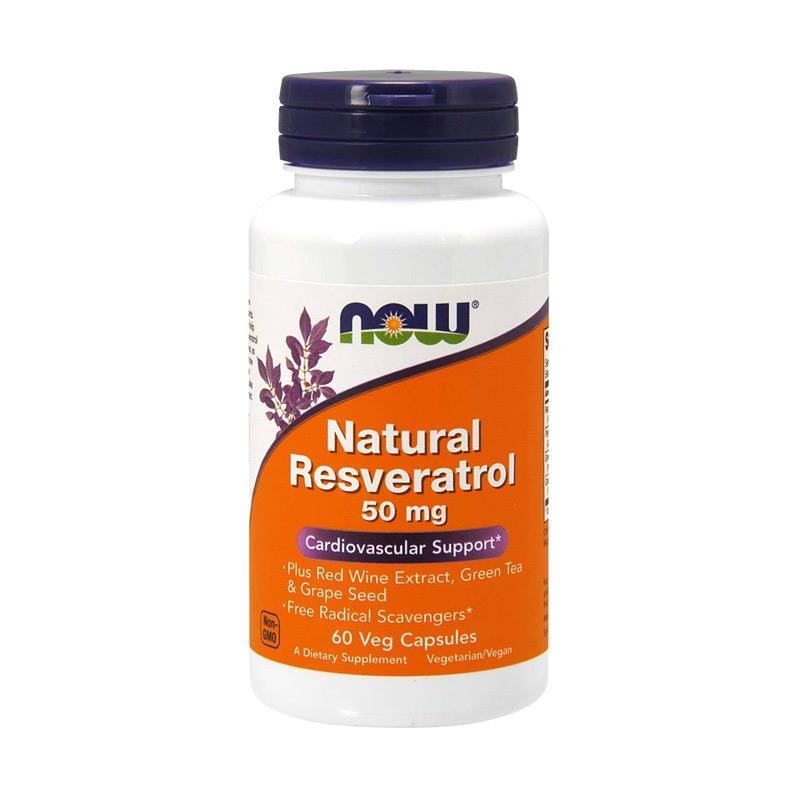 Jual Now Foods Natural Resveratrol Supleman [50 mg/ 60 Veg ...