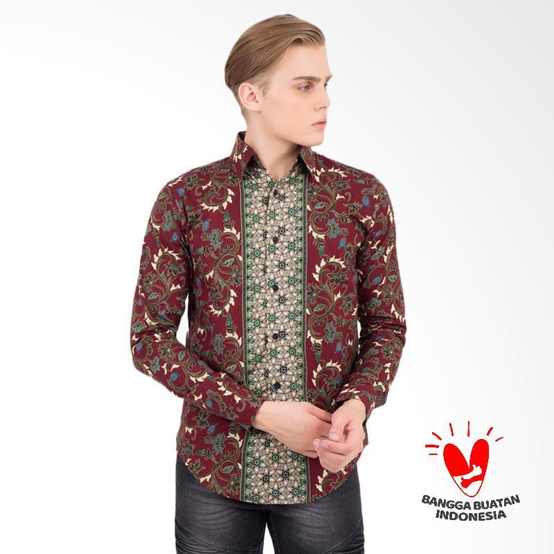 Batik Lengan Panjang Pria Jogja: Jual Flike Store Cotton Batik Kemeja Pria Lengan Panjang