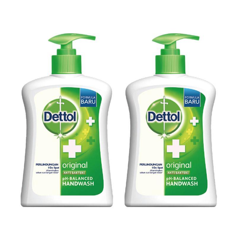 Jual Dettol Handwash Pump Original 225 ML 2 Pcs Online