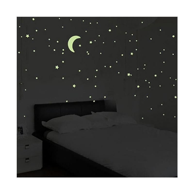 200 X Pcs Wall Glow In The Dark Star Stickers Kids Bedroom Nursery Room Decor