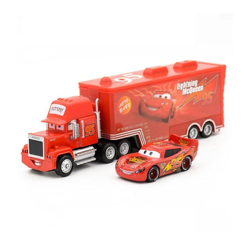 jual universal cars lightning mcqueen  mack truck diecast
