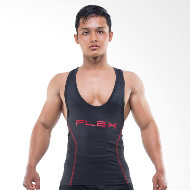 Jual FLEX Red Print Logo Low Cut Singlet Olahraga Pria