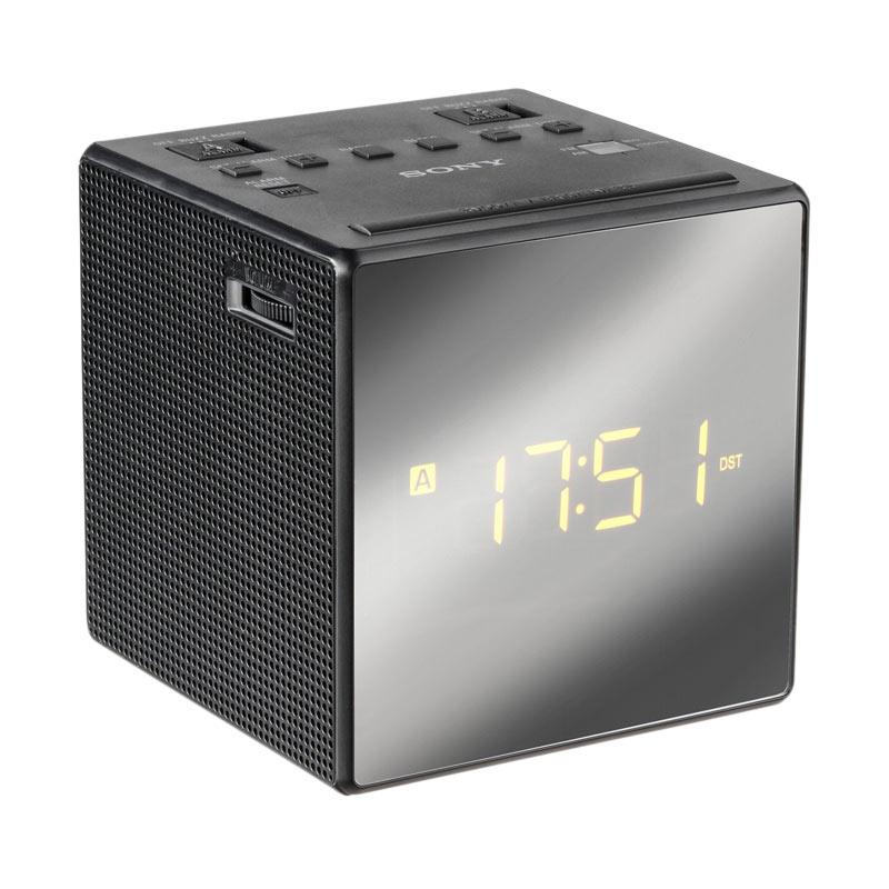 jual sony icf c1t alarm clock radio hitam am fm online harga kualitas terjamin. Black Bedroom Furniture Sets. Home Design Ideas