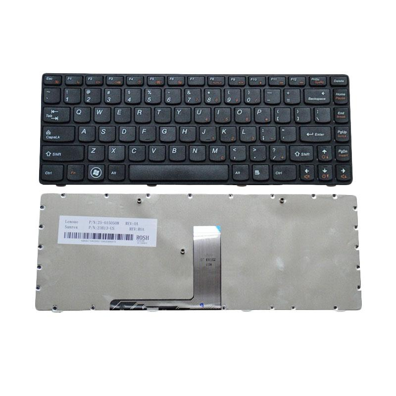 jual lenovo keyboard notebook for z370   black online