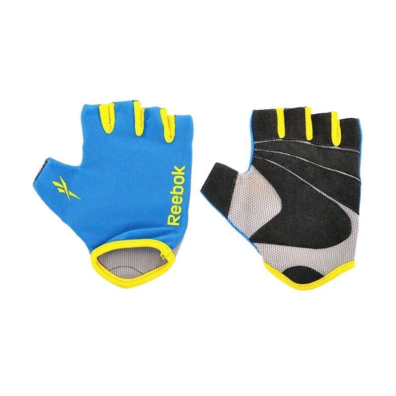 Jual Reebok Gloves Fitness Sarung Tangan - Blue [Size L ...