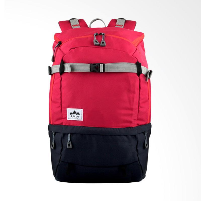 Jual Sollu Wanderpack Summit Series Tas Ransel - Red Navy ...