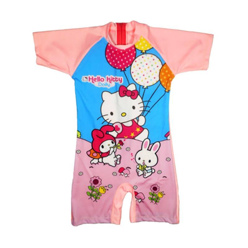 Jual Nice Motif Hello Kitty Baju Renang Anak Peach