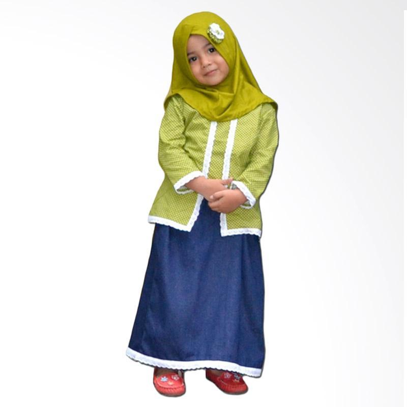 Jual Elbi Calista Set Baju Muslim Anak Balita Hijau