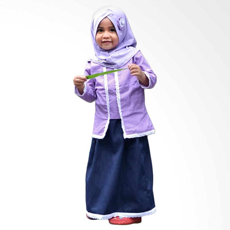Jual Elbi Calista Set Baju Muslim Anak Balita Ungu