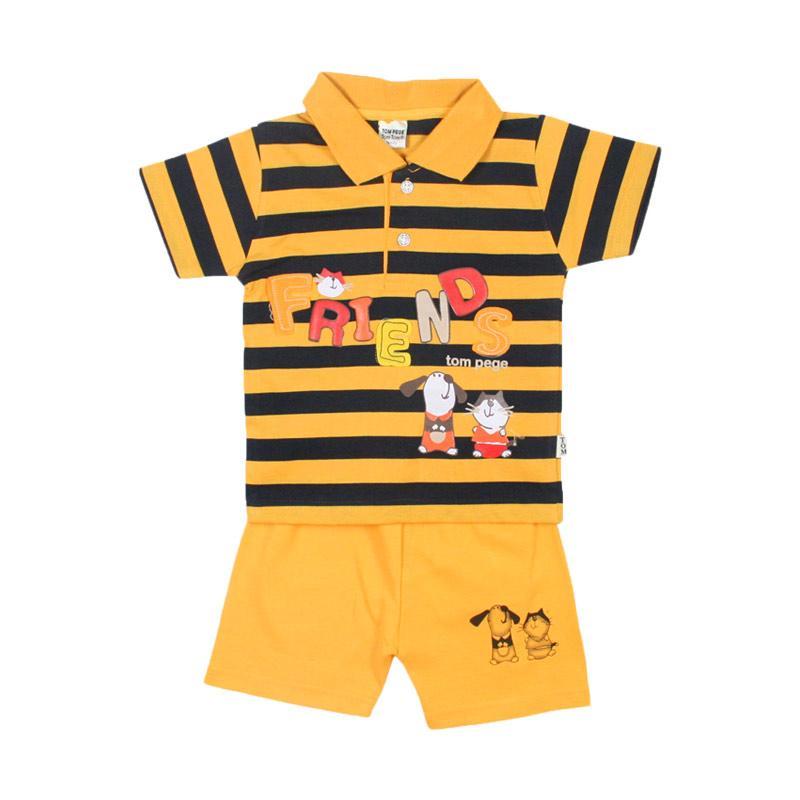 Jual Tompege Tp 6864 Kerah Kecil Salur Setelan Baju Anak