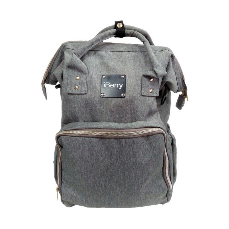 jual iberry diaper backpack grey online harga kualitas terjamin. Black Bedroom Furniture Sets. Home Design Ideas