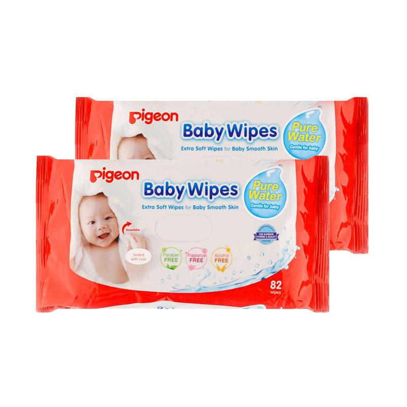 Jual Pigeon Baby Wipes Pure Water Tissue Basah 82 Wipes