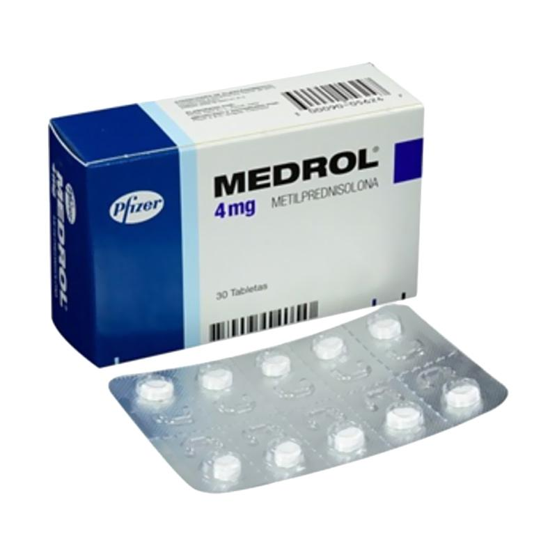 Jual Pfizer Medrol Tablet Obat Kesehatan [4 Mg/ 10 Tablet