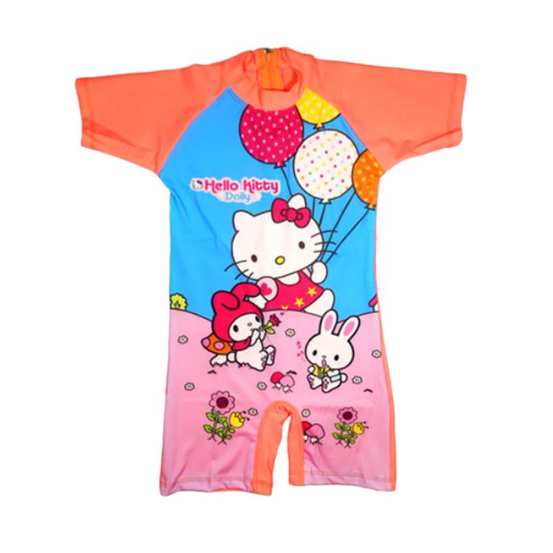 Jual Nice Motif Hello Kitty Baju Renang Anak Orange