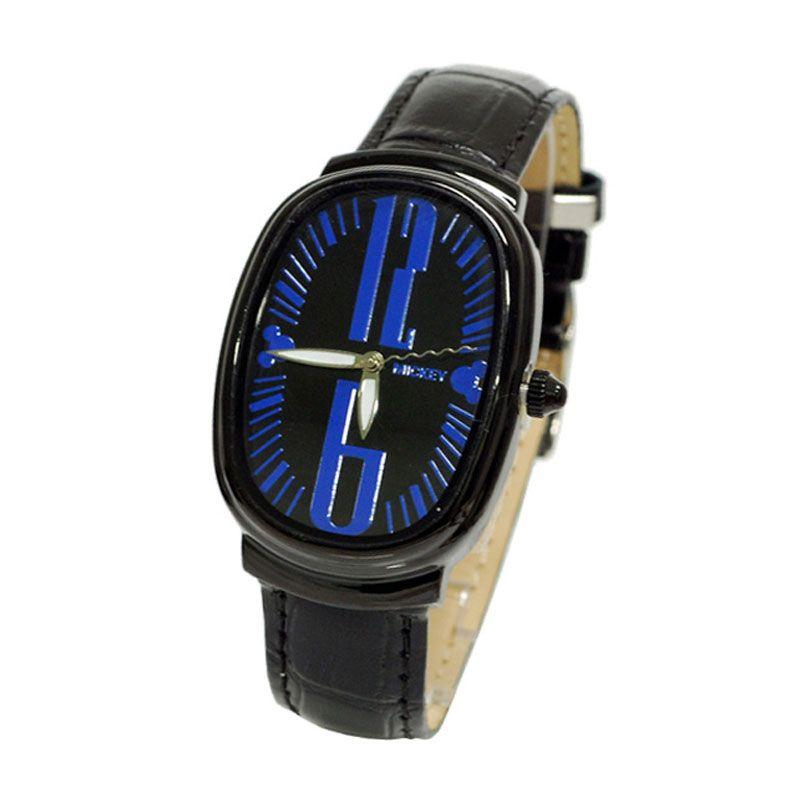 Disney Mickey MS1315-L1 Black Blue Jam Tangan Unisex [Size L]