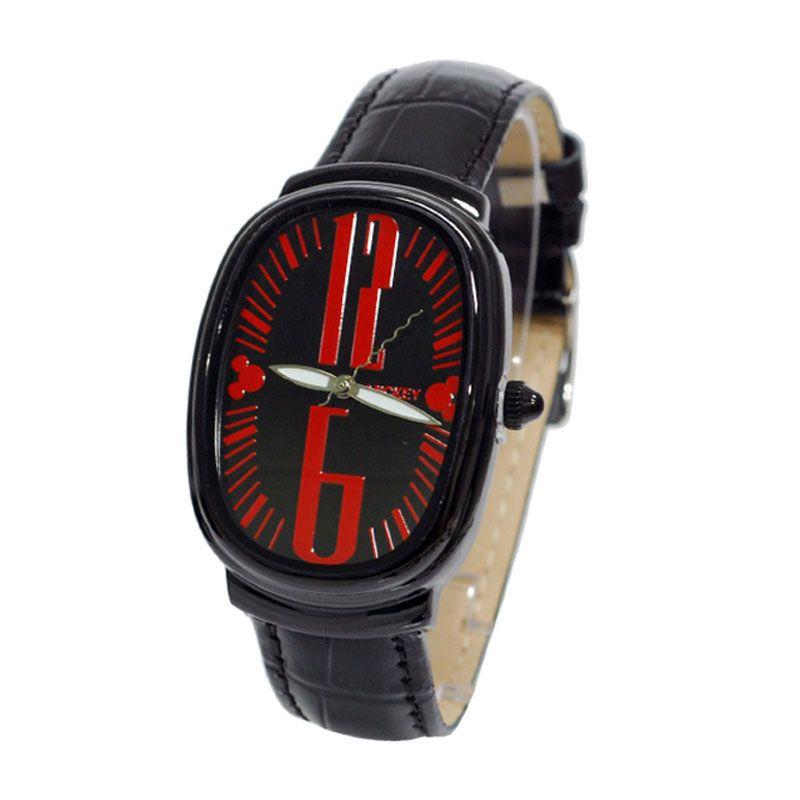 Disney Mickey MS1315-R1 Black Red Jam Tangan Unisex [Size L]