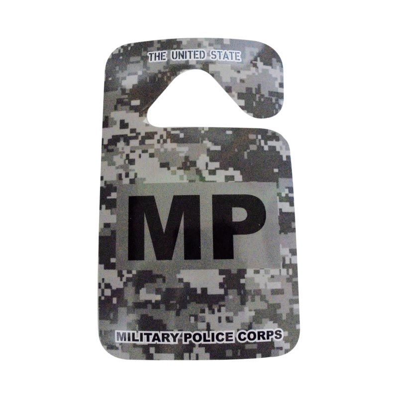 Automilshop Parking Permit Military Police Aksesoris Mobil