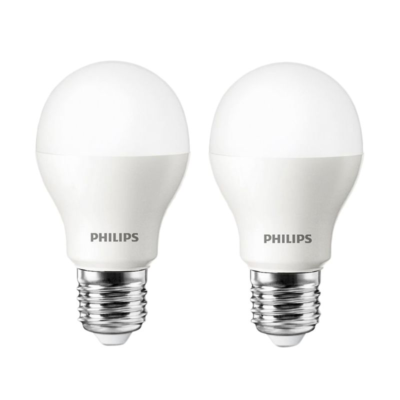 Philips LED Putih Lampu Bohlam [3 Watt/2 Pcs]