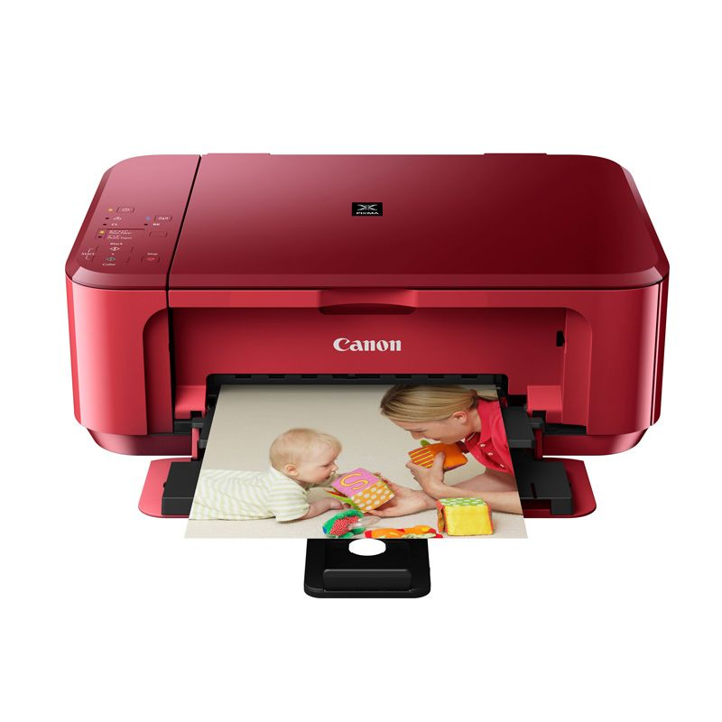 Canon Ink Jet Multifungsi MG3570R Red Printer