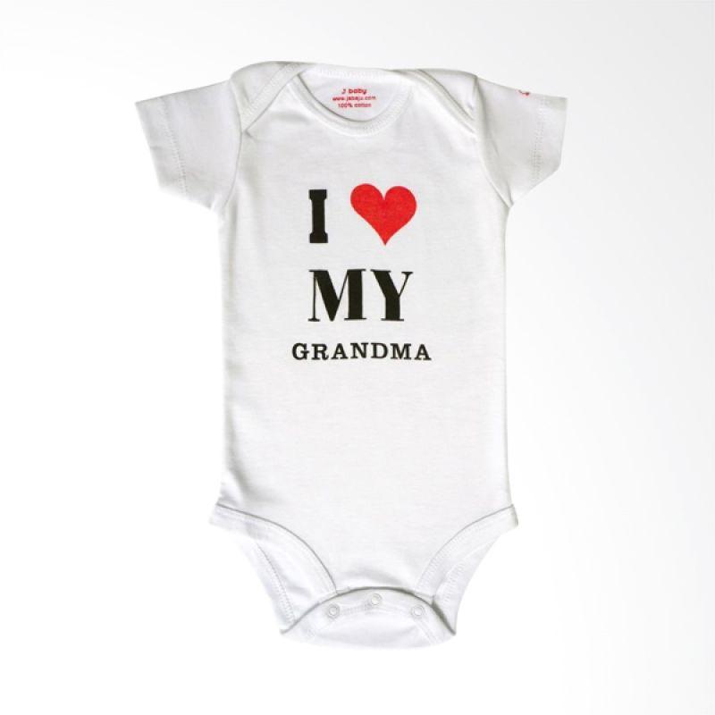 J Baby I Love My Grandma Romper 63 Putih Jumpsuit Bayi