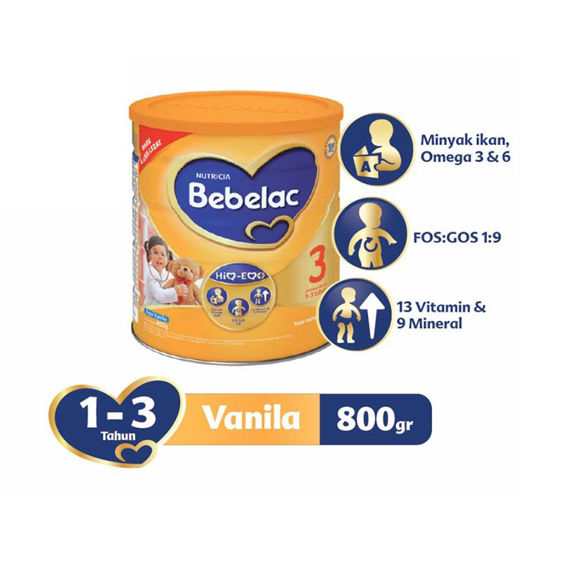 harga Groceries - Bebelac 3 Vanila Susu Formula [800gr] Blibli.com