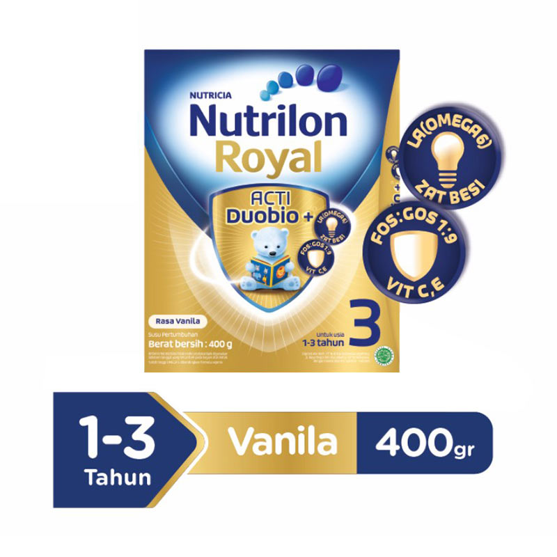 Nutrilon Royal 3 Pronutra Vanila Susu Formula [400 g/Box]
