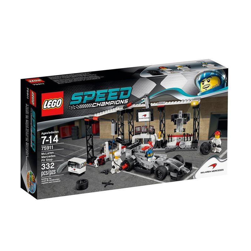 LEGO McLaren Mercedes Pit Stop 75911 Mainan Anak