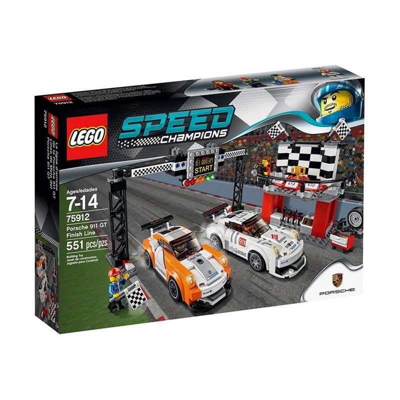 LEGO Porsche 911 GT Finish Line 75912 Mainan Blok dan Puzzle