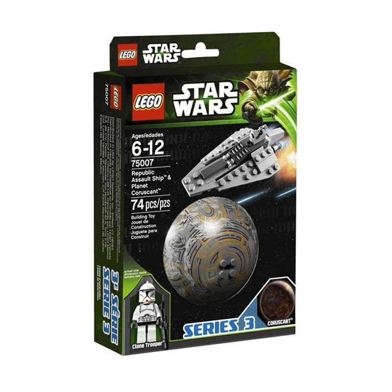 LEGO Republic Assault Ship & Coruscant 75007 Mainan Anak