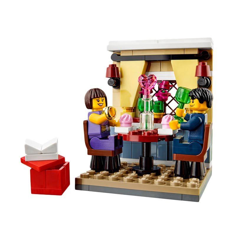 Lego Valentine's Day Dinner 40120 Mainan Blok dan Puzzle