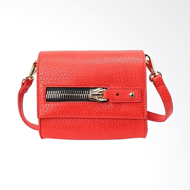 Brera Mini Quilt Shape Crossbag Red Pouch