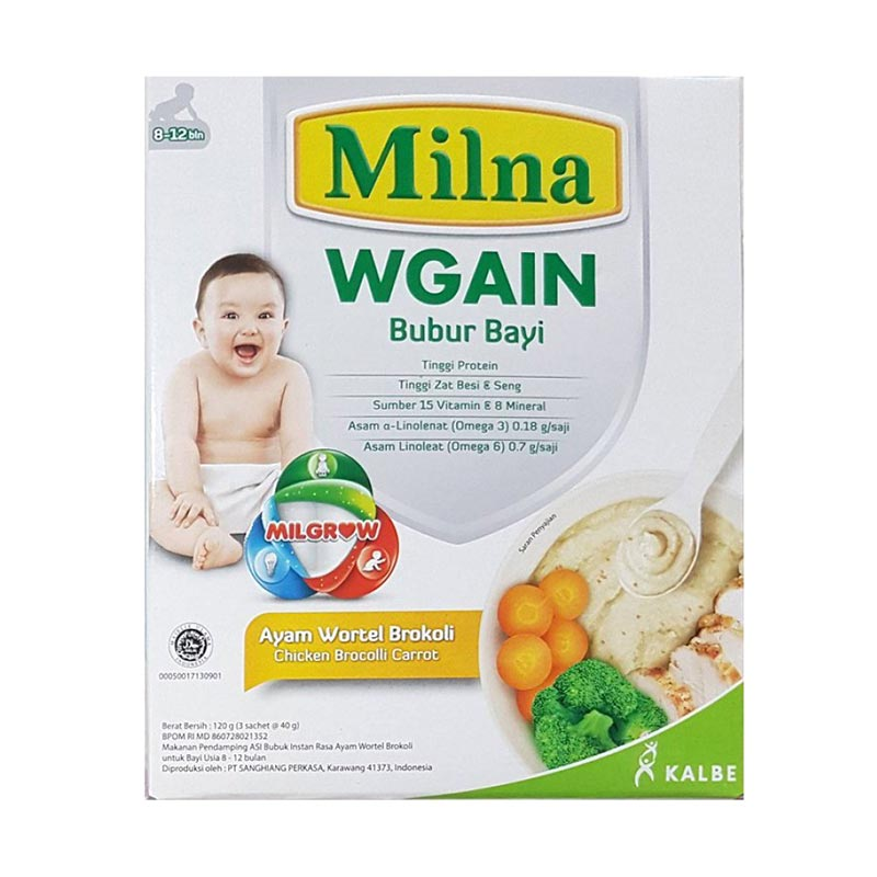 Jual Milna Wgain Bubur Bayi Ayam Wortel Brokoli 9m Murah Februari