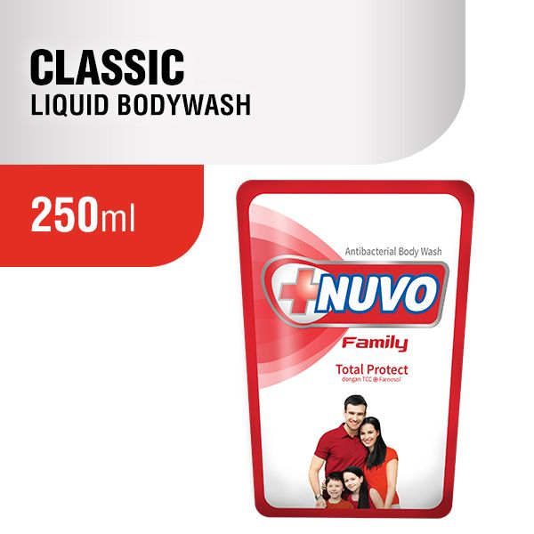 Nuvo Classic Red Pouch Body Wash