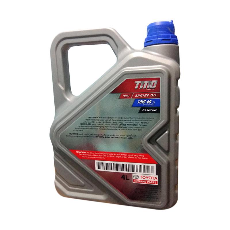 Jual Toyota Motor Oil Tmo 10w 40 Api Sn Pelumas Oli Mobil Mesin Bensin 4 Liter Untuk Semua Jenis Mobil Toyota Daihatsu Online Februari 2021 Blibli
