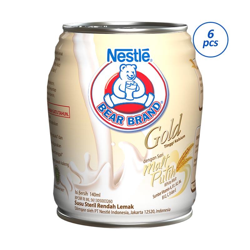 Jual Bear Brand Gold White Malt Rtd 12040293 6 Pcs 140 Ml Online April 2021 Blibli
