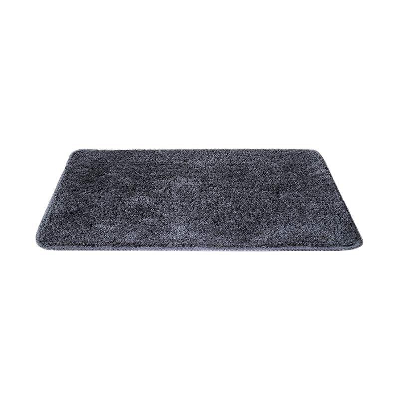Tren-D-Rugs Polyester Keset Microfiber - Abu-abu [40 x 60 cm]