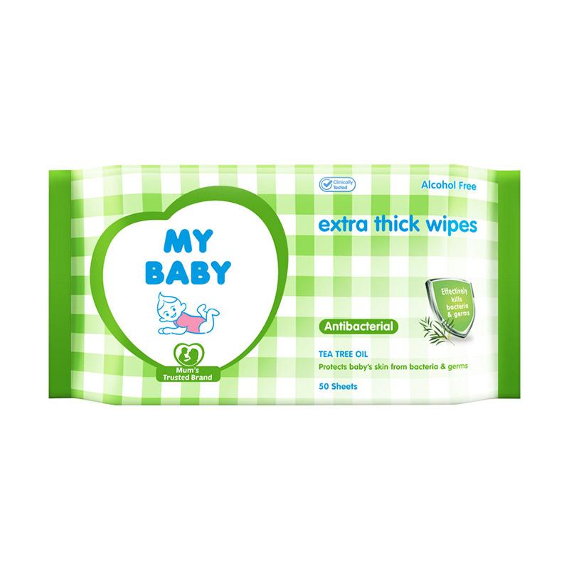 My Baby Tissue Basah Antibacterial [50 Sheets]