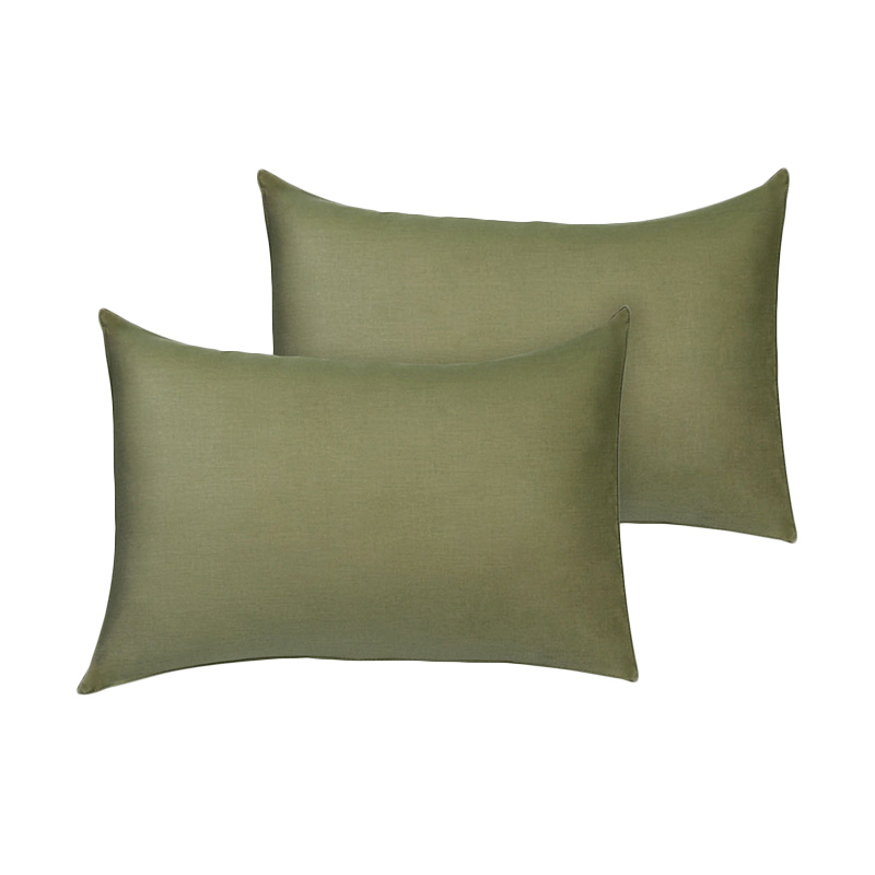 Tren-D-Home Polos Sarung Bantal Tidur - Hijau Lumut [50 x 70 cm/2 pcs]