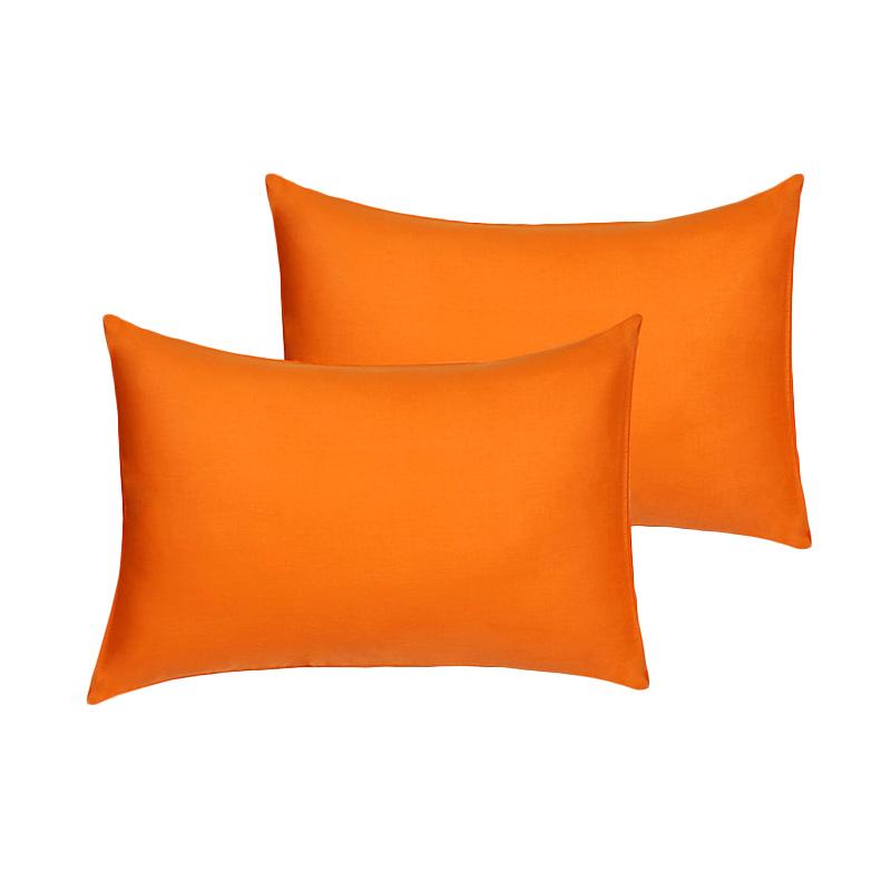 Tren-D-Home Polos Sarung Bantal Tidur - Orange [50 x 70 cm/2 pcs]