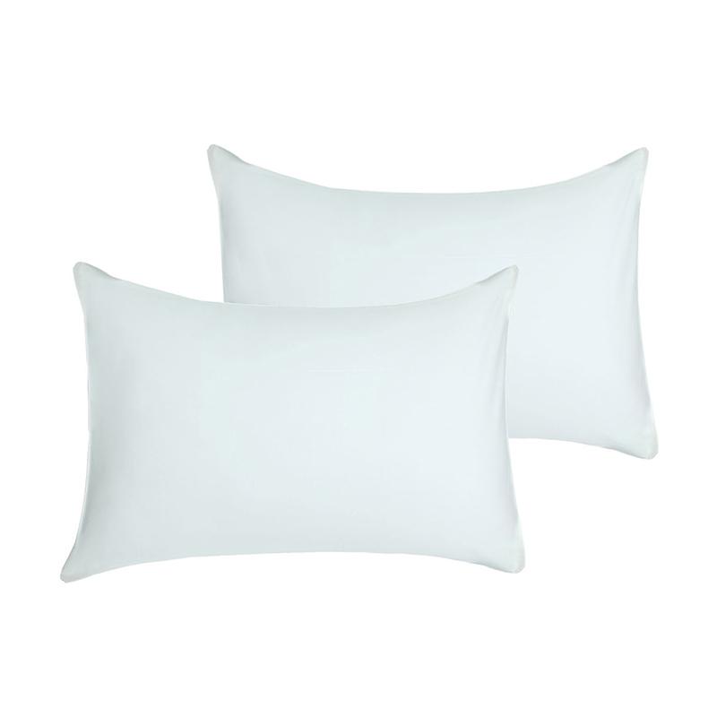 Tren-D-Home Polos Sarung Bantal Tidur - Putih Gading [50 x 70 cm/2 pcs]